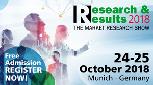 The Research & Results Show, Munich 24-25 October 2018 - Register Now for free!