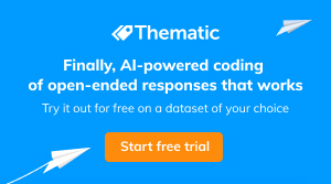 Thematic: finally, AI-powered coding of open-ended responses that works