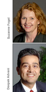 Suzanne Fogel and Deepak Advani