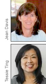 Jean Davis and Tessie Ting