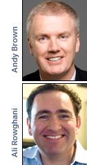 Andy Brown and Ali Rowghani