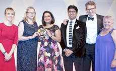The Kantar TNS team collecting the The Grand Prix award (Holly Walsh far left)