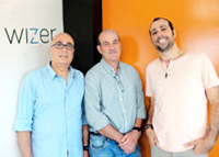 From right to left: Idan Geva, co-founder & Chief Business Officer (with the beard); Alon Ravid, co-founder & CEO; Mano Geva, co-founder and Scientific Director