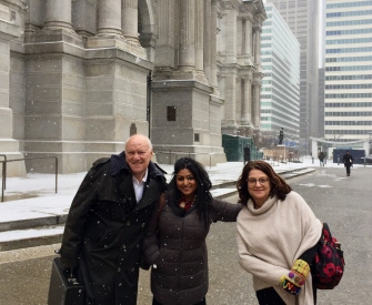From left to right: Insights Association grassroots volunteers Howard Schlesinger, Roni DasGupta, and Ileen Branderbit