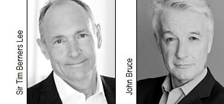 Sir Tim Berners-Lee and John Bruce
